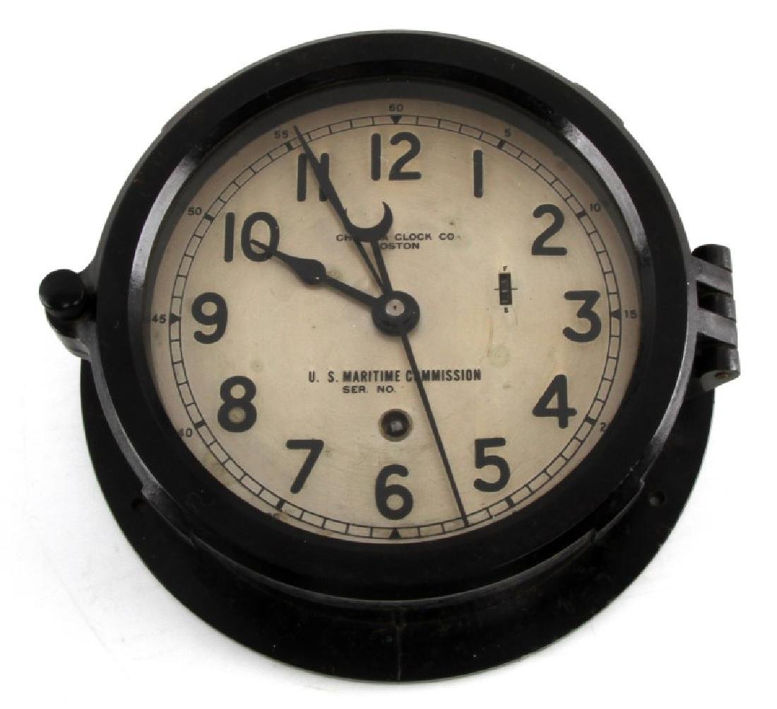 WWII US NAVY CHELSEA CLOCK US MARITIME SERIES