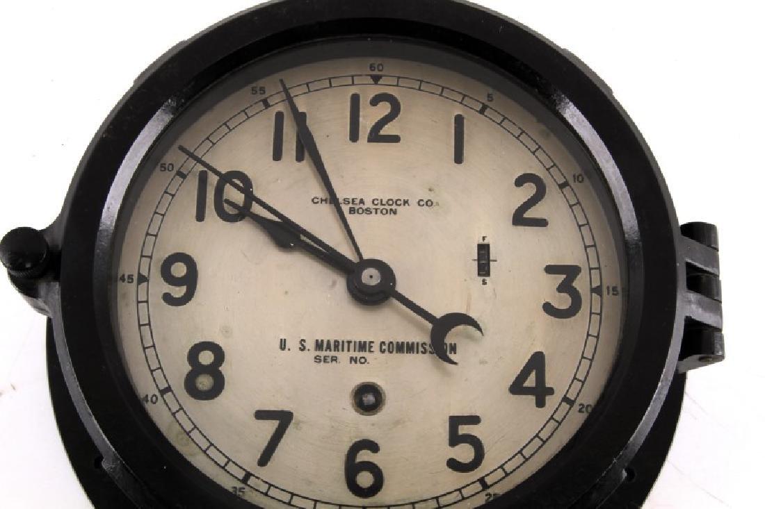 WWII US NAVY CHELSEA CLOCK US MARITIME SERIES - 2