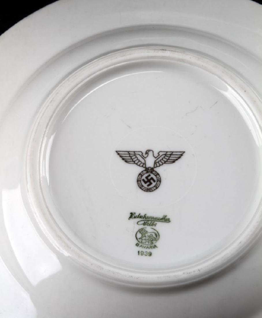 WWII GERMAN 3RD REICH MILITARY MESS HALL DISH LOT - 2