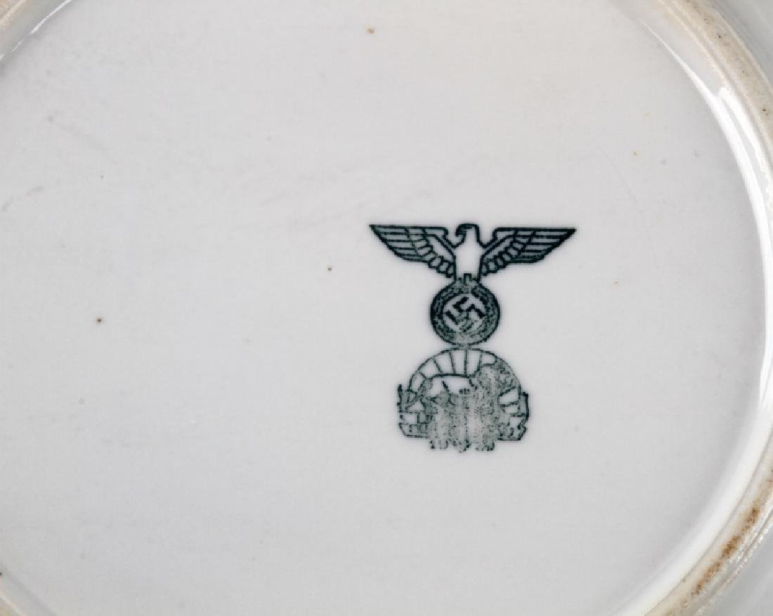 WWII GERMAN 3RD REICH MILITARY MESS HALL DISH LOT - 3