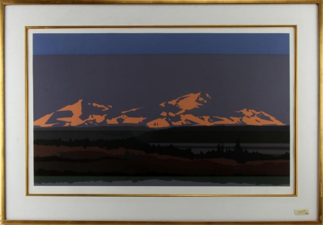 DENALI PRESERVE ALASKA  MODERN ART LANDSCAPE