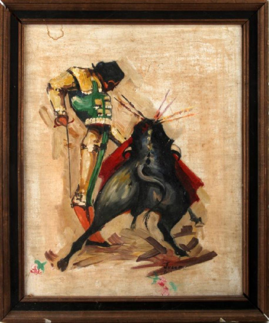 MID CENTURY JAUREZ SPANISH BULLFIGHTER PAINTING