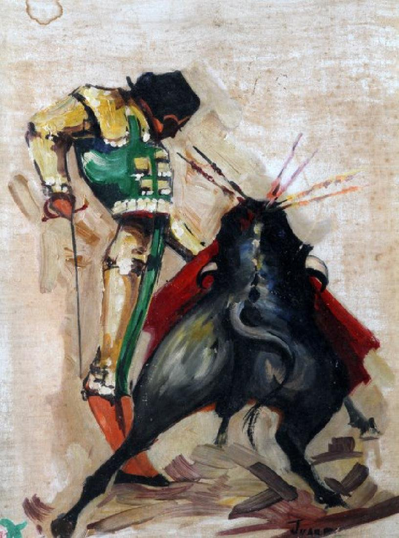 MID CENTURY JAUREZ SPANISH BULLFIGHTER PAINTING - 2