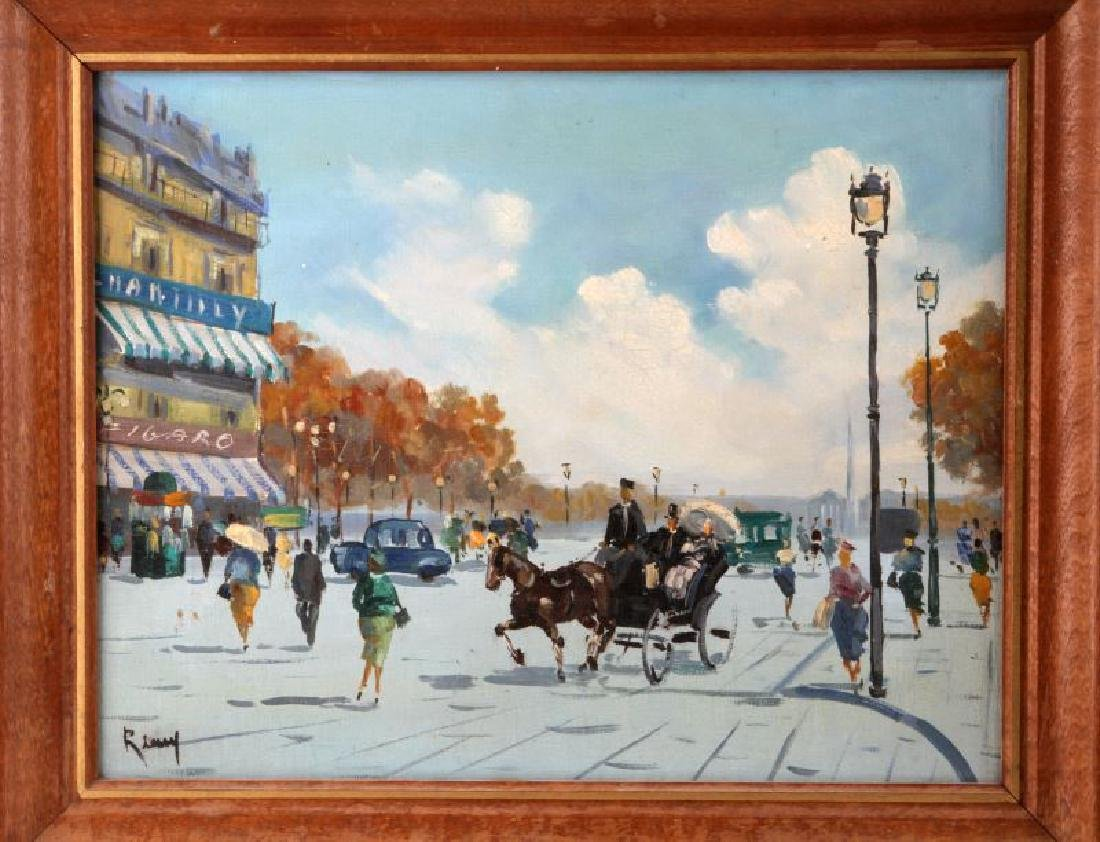 SET OF MID CENTURY FRENCH STREET SCENE PAINTINGS - 2