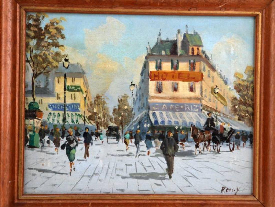 SET OF MID CENTURY FRENCH STREET SCENE PAINTINGS - 3