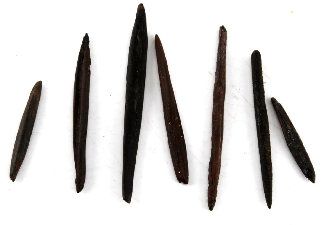 FLORIDA SUBMERGED BONE PIN INDIAN ARTIFACT LOT - 3