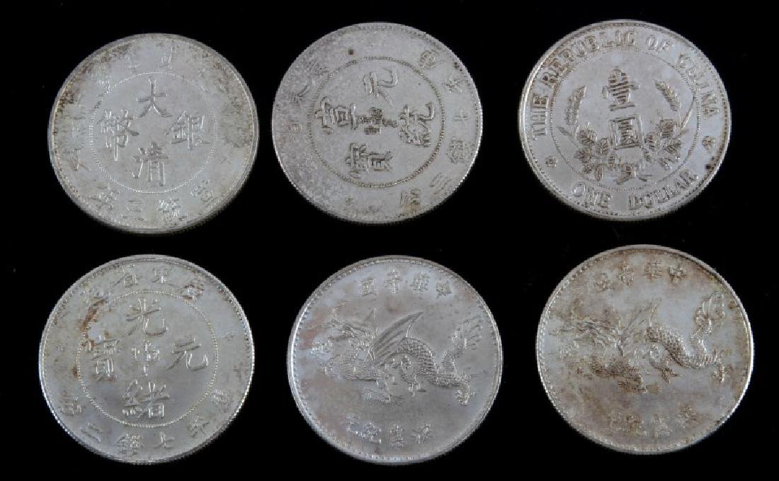 6 CHINESE ALL SILVER EARLY 1900'S COUNTERFEIT COIN - 2