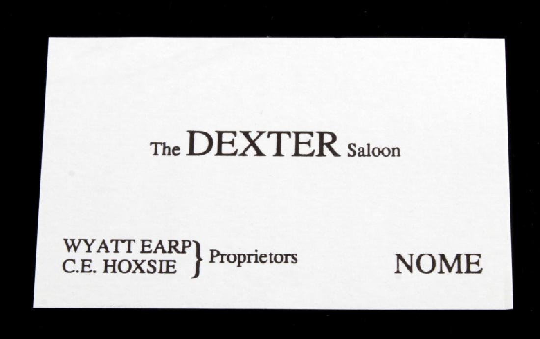 THE DEXTER SALOON WYATT EARP NOME ALASKA 1890'S