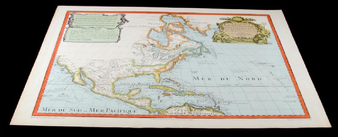 VINTAGE REPRO MAP NORTH AMERICA IN 1700 BY DELISLE