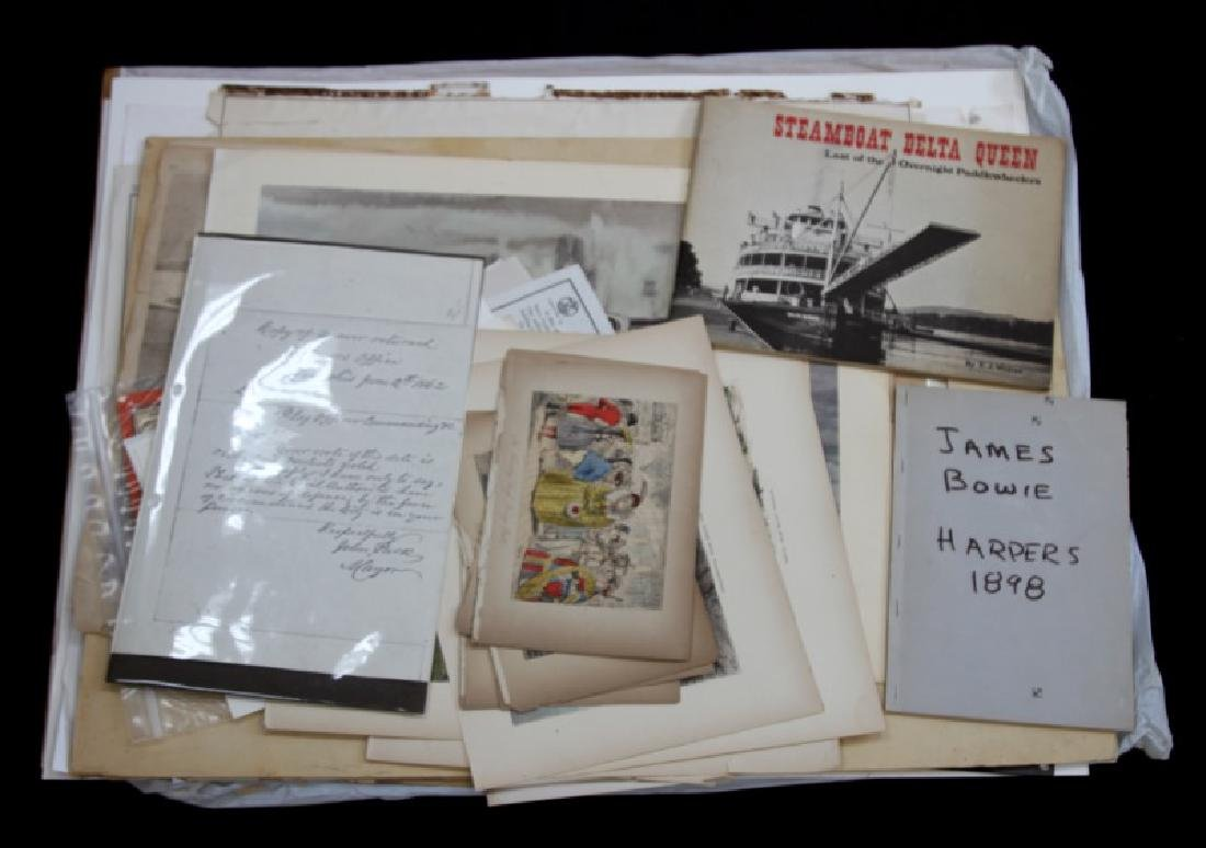 19TH CENT.  EPHEMERA FROM VARIOUS TIME PERIODS LOT