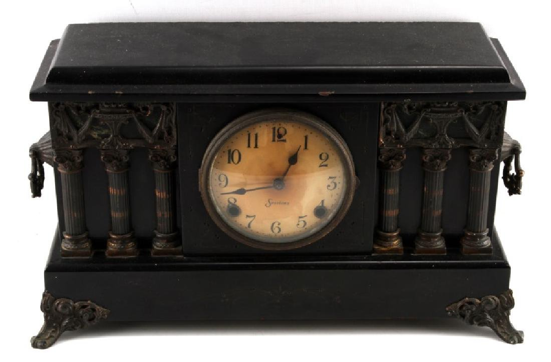 EARLY CENTURY SESSIONS COLUMN MANTLE CLOCK