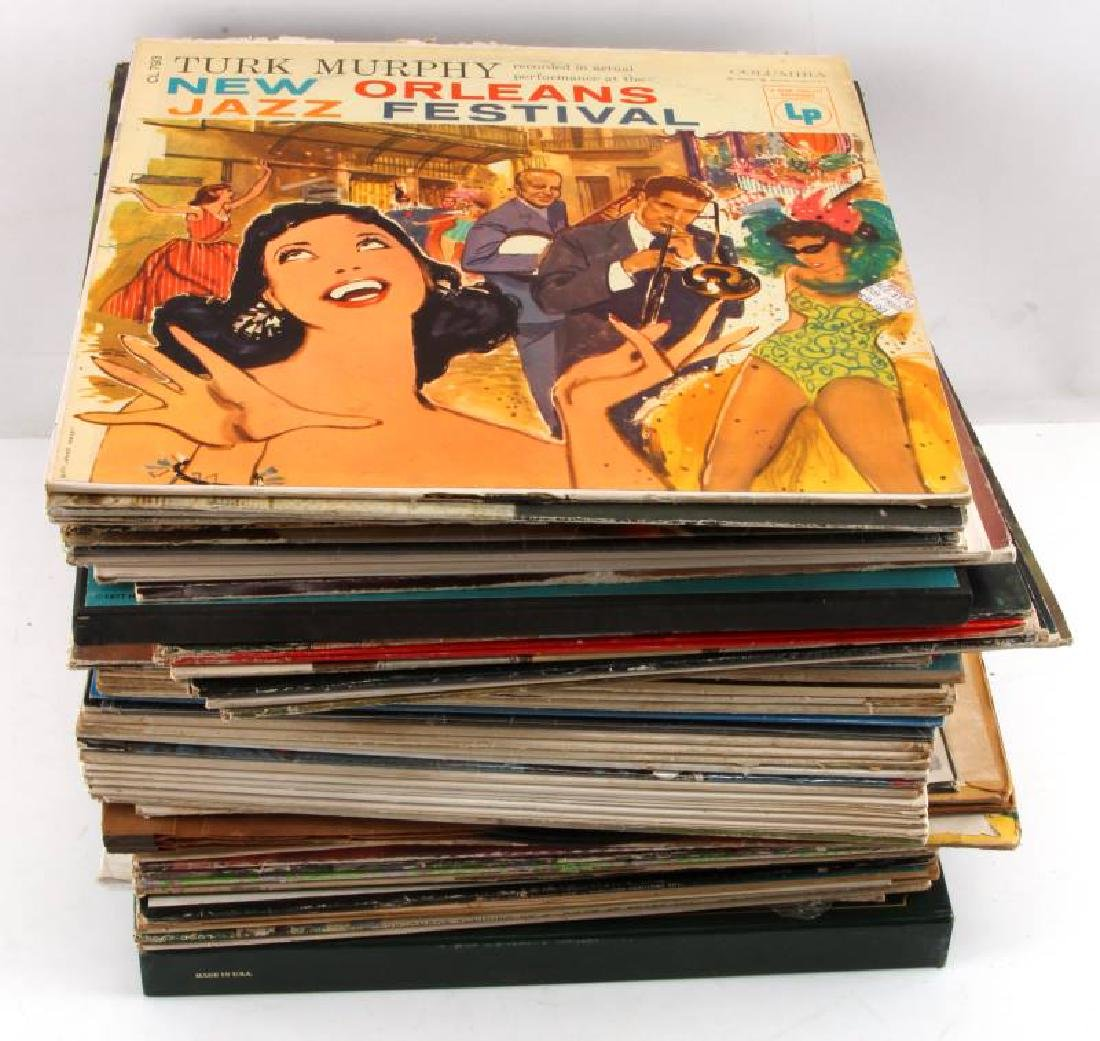 LOT OF OVER 60 VINTAGE TO ANTIQUE VINYL RECORDS