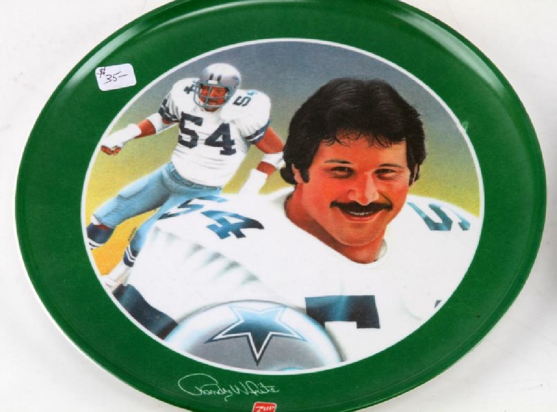LOT OF 4 GREATEST ATHLETES OF ALL TIME 7 UP PLATES - 2