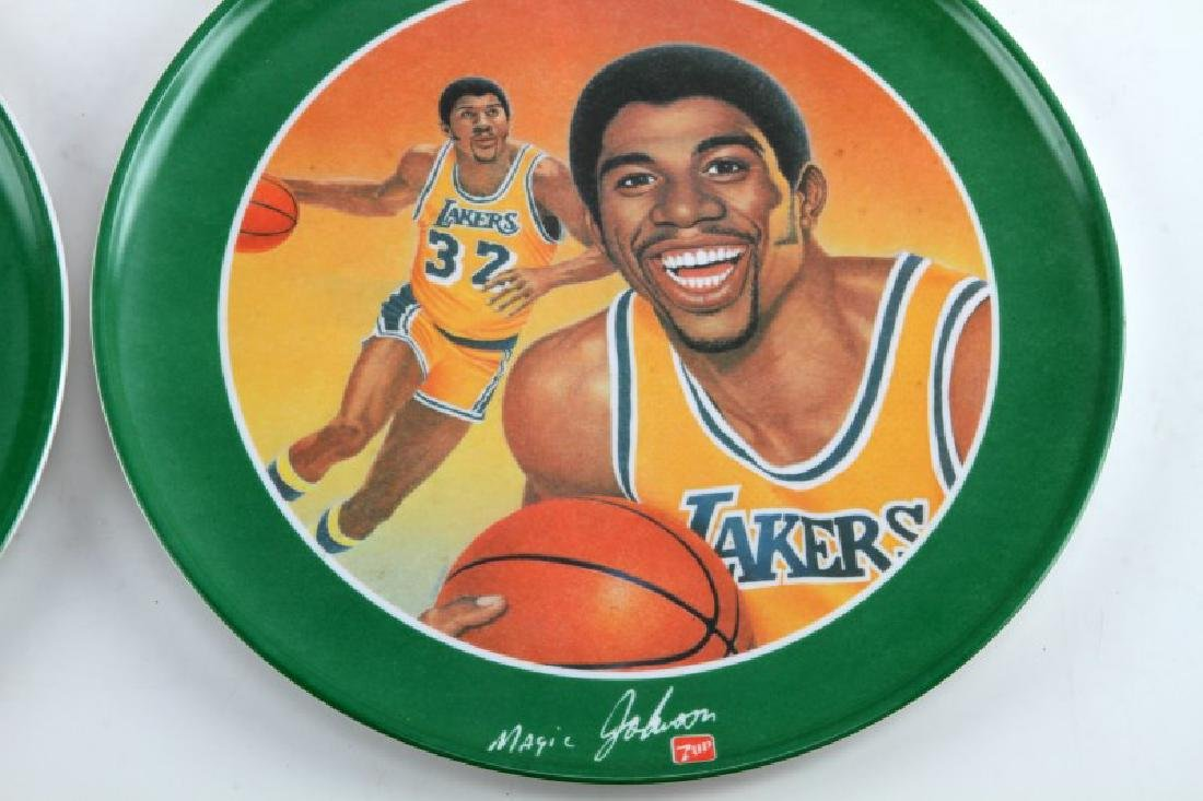 LOT OF 4 GREATEST ATHLETES OF ALL TIME 7 UP PLATES - 4