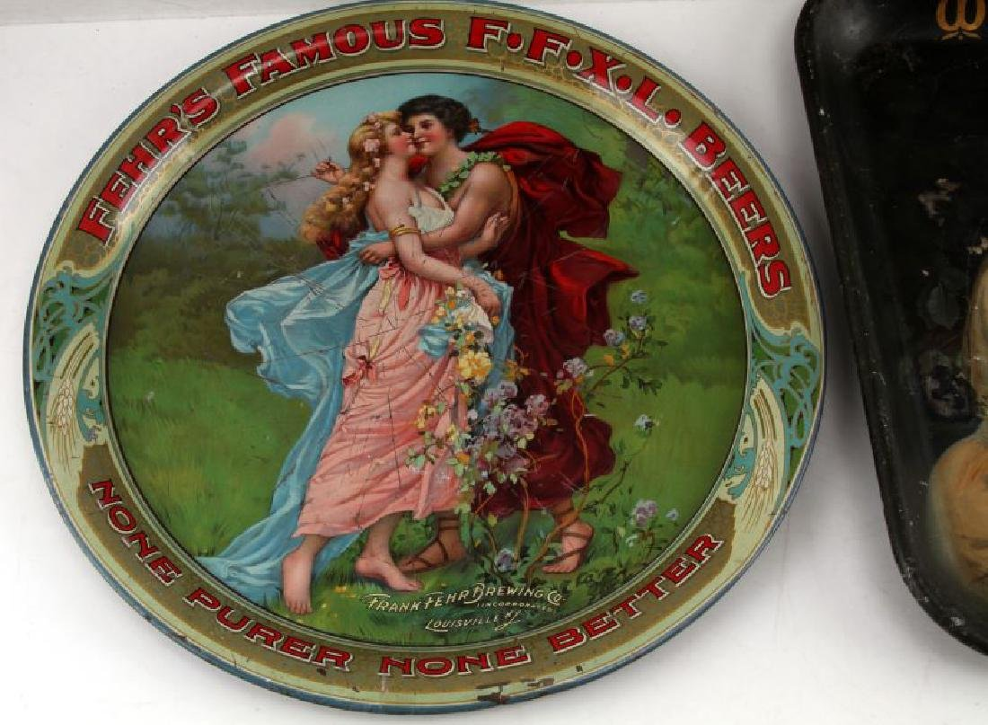 1895 TO 1910 TIN LITHO BEER ADVERTISING PLATE SIGN - 2