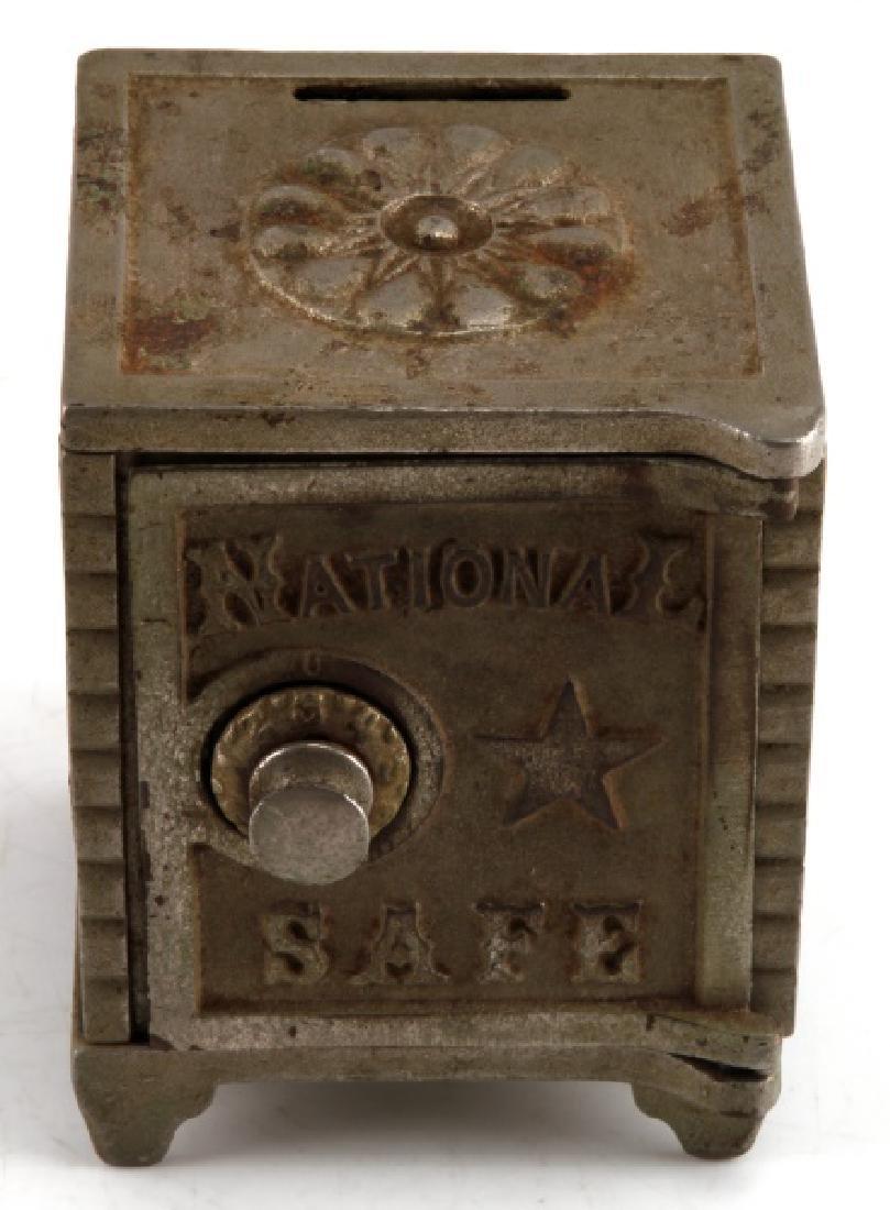 NATIONAL SAFE BANK & MINI WHISKEY ADVERTISING JUG - 3