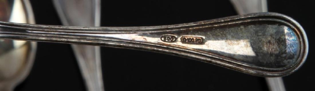 STERLING SILVER DEMITASSE SPOONS WITH CASE - 5