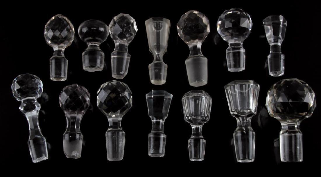 VINTAGE GLASS CRYSTAL WINE DECANTER STOPPER LOT