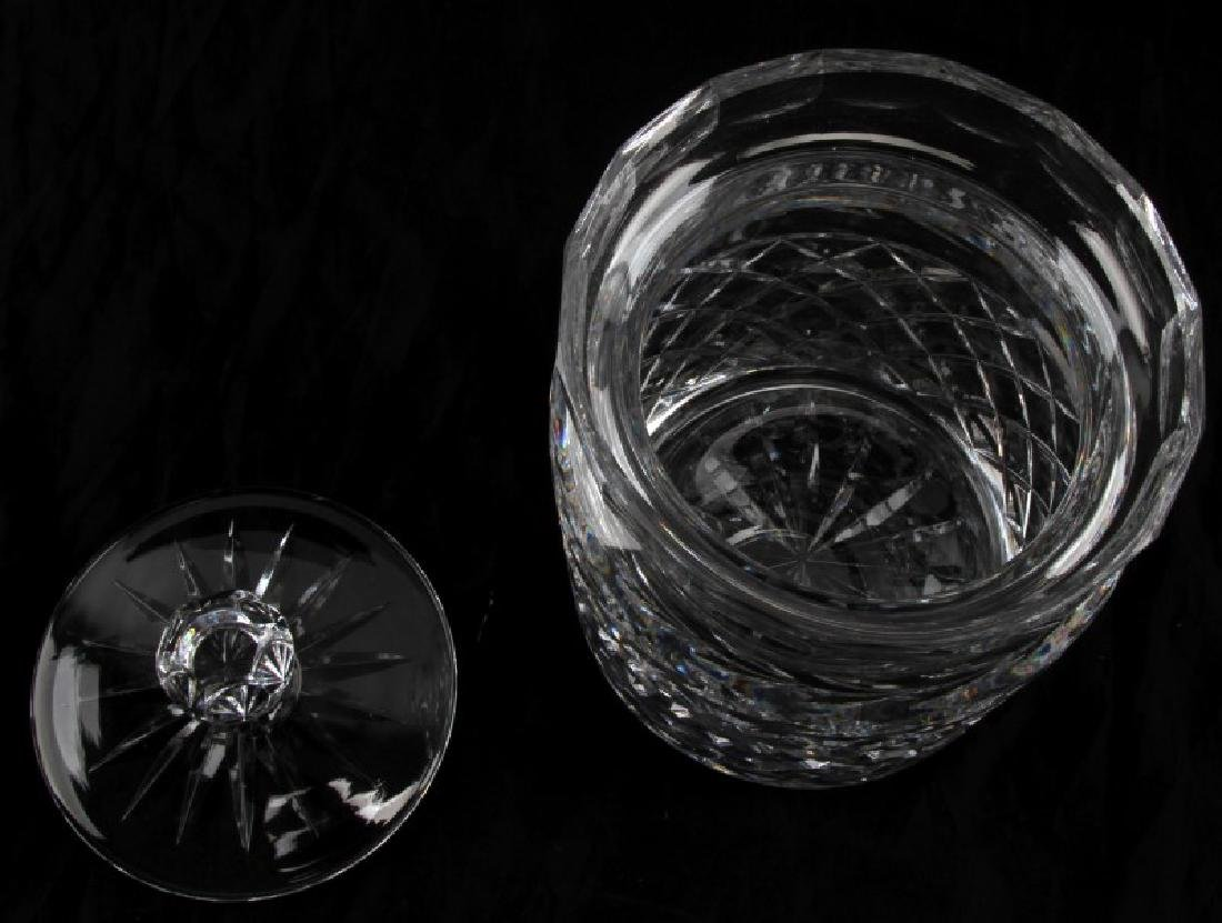 WATERFORD CRYSTAL BISCUIT BARREL WITH LID - 2