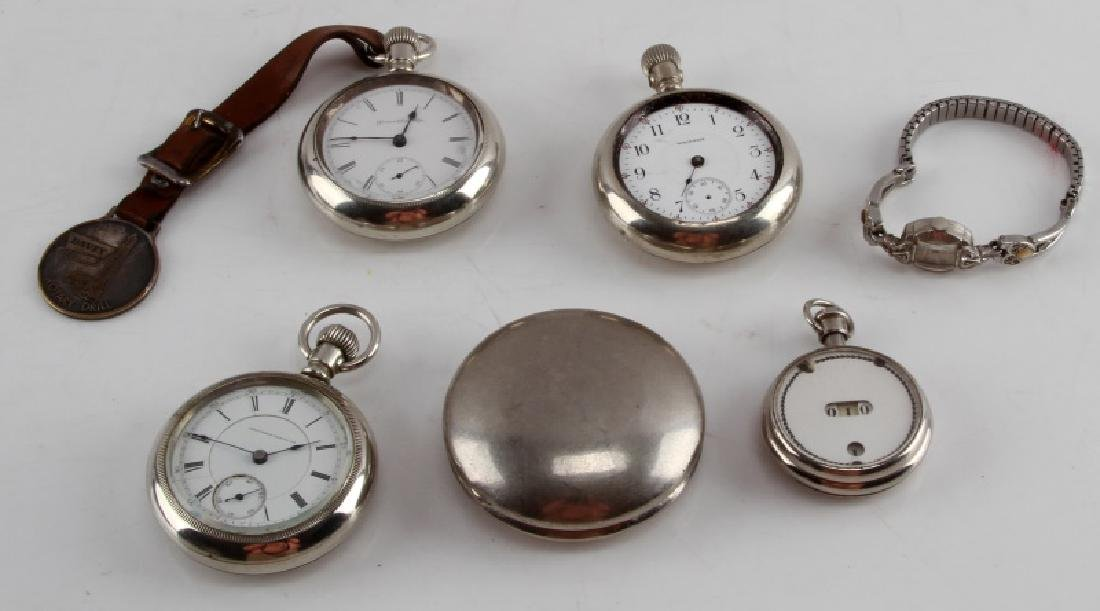 19TH CENT POCKET WATCH LOT COLUMBUS ATLAS WALTHAM