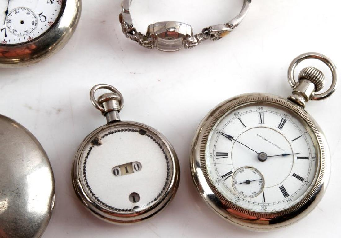 19TH CENT POCKET WATCH LOT COLUMBUS ATLAS WALTHAM - 3