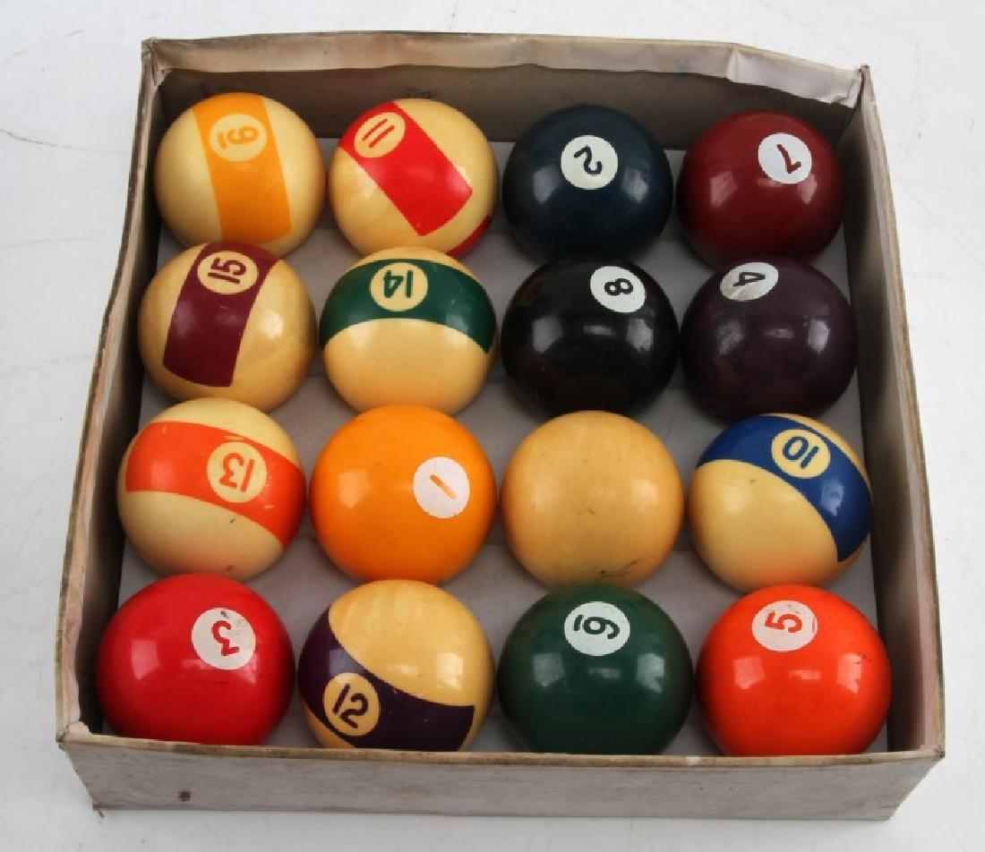 VINTAGE SPORTCRAFT BILLIARD BALLS SET IN ORIG BOX - 2