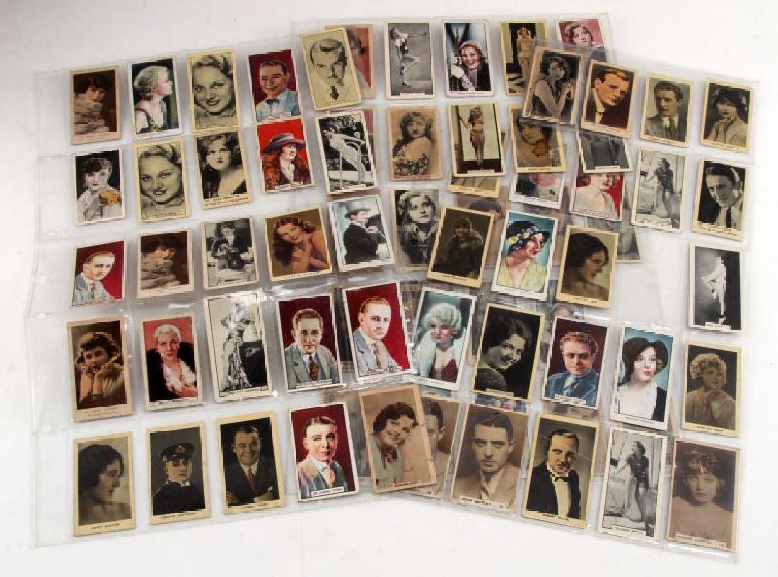 LOT OF 73 CIGARETTE TRADING CARDS ACTORS MOVIESTAR