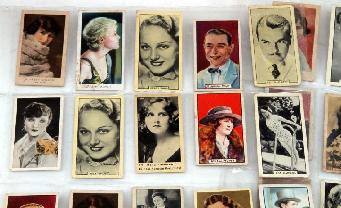 LOT OF 73 CIGARETTE TRADING CARDS ACTORS MOVIESTAR - 2