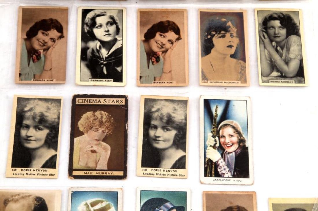 LOT OF 73 CIGARETTE TRADING CARDS ACTORS MOVIESTAR - 4