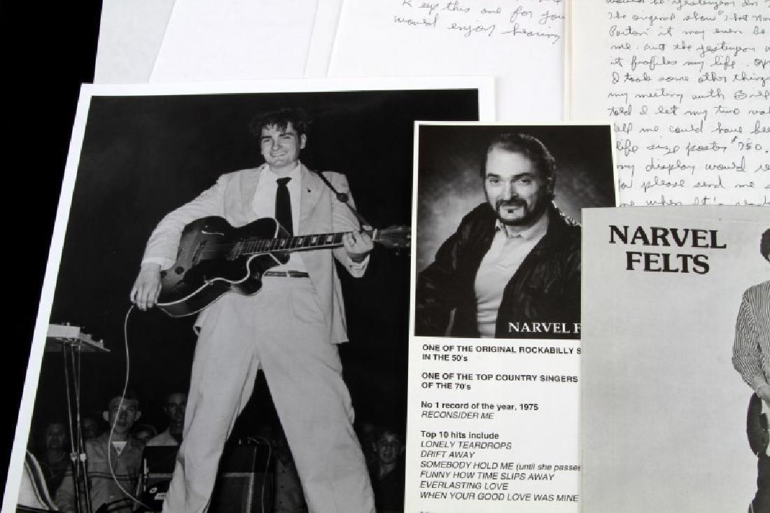NARVEL FELTS COUNTRY SINGER CORRESPONDENCE LOT - 2