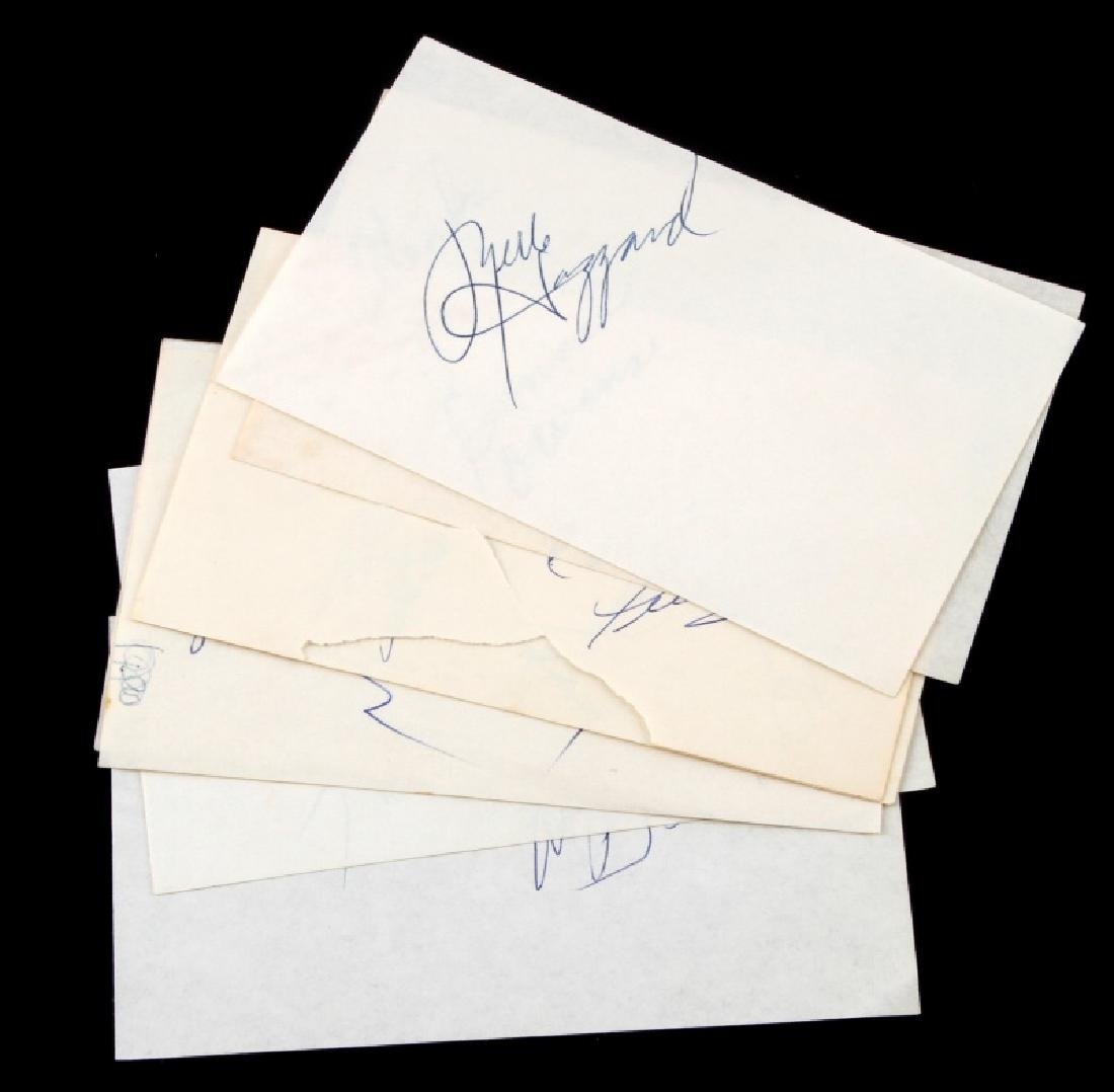 CLASSIC COUNTRY MUSIC SINGER AUTOGRAPH LOT