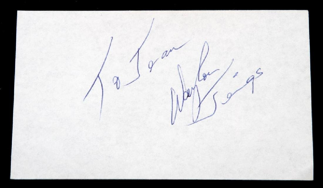 CLASSIC COUNTRY MUSIC SINGER AUTOGRAPH LOT - 6