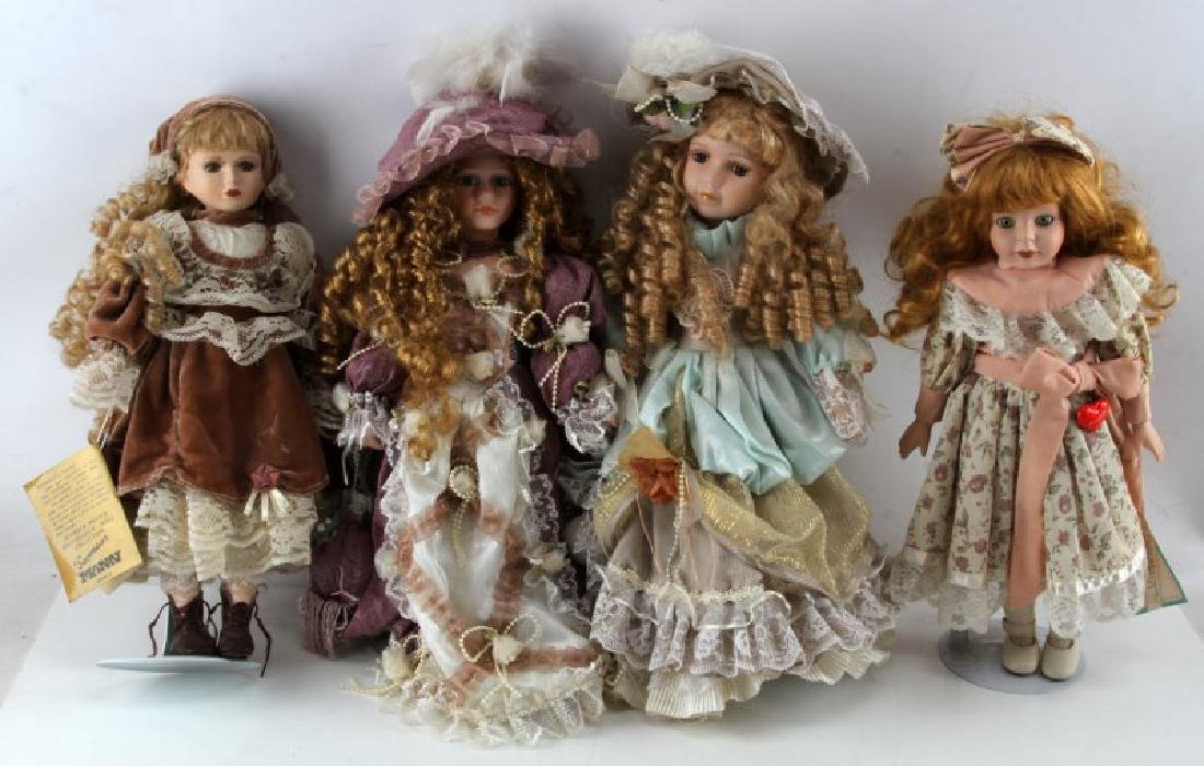 ASSORTED PORCELAIN DOLL LOT MANN CATHAY CHANTELL