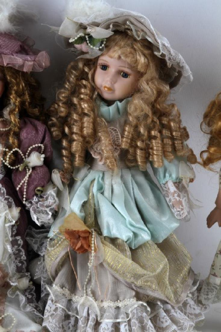 ASSORTED PORCELAIN DOLL LOT MANN CATHAY CHANTELL - 4