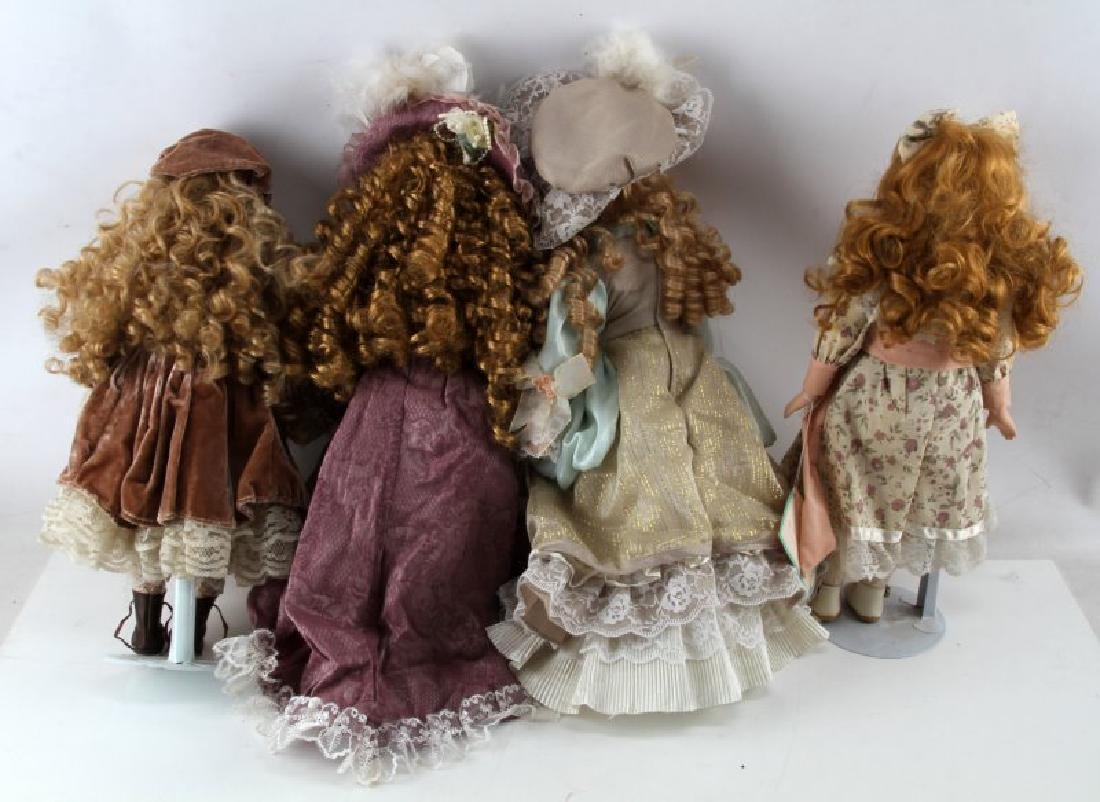 ASSORTED PORCELAIN DOLL LOT MANN CATHAY CHANTELL - 6