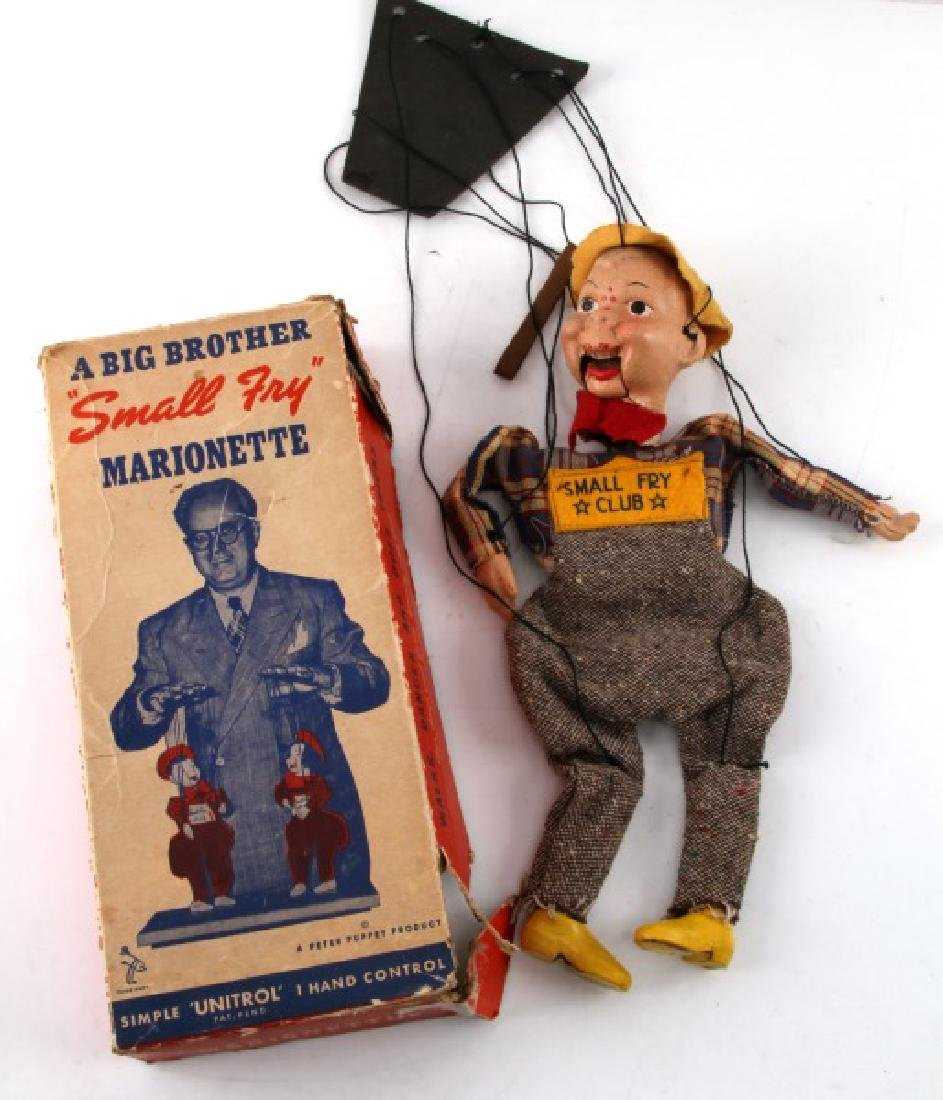 VINTAGE SMALL FRY CLUB BOXED BOY MARIONETTE