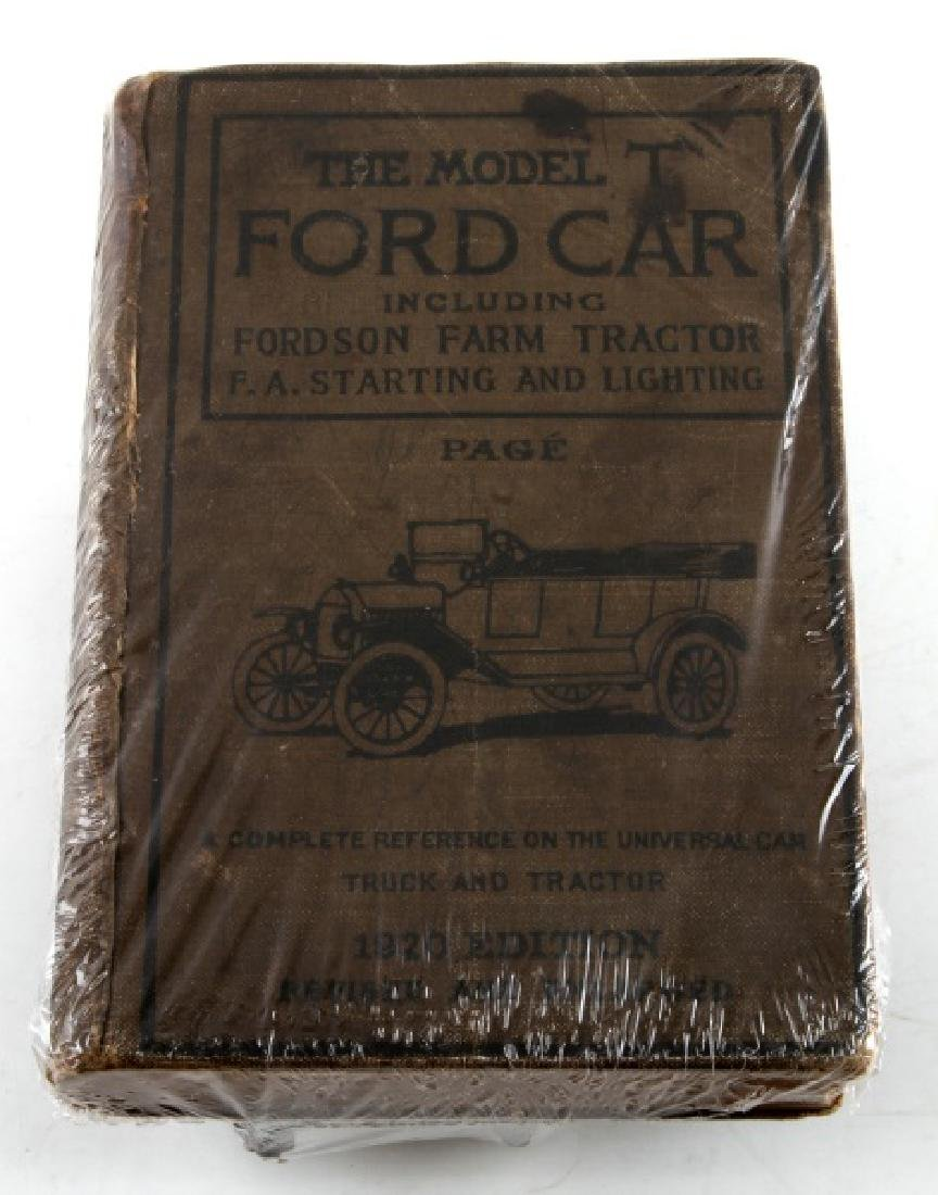 ANTIQUE FORD MODEL T WOOD COIL & 1920 MANUAL BOOK