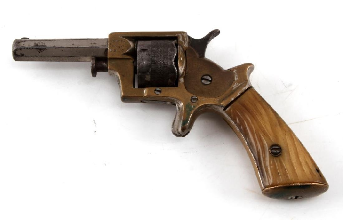 ENGLISH WILLIAM TRANTER .230 CAL 7 SHOT REVOLVER - 3
