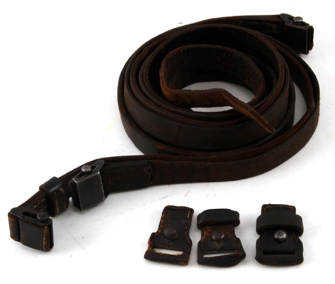 3 GERMAN WWII THIRD REICH K98 LEATHER RIFLE SLINGS