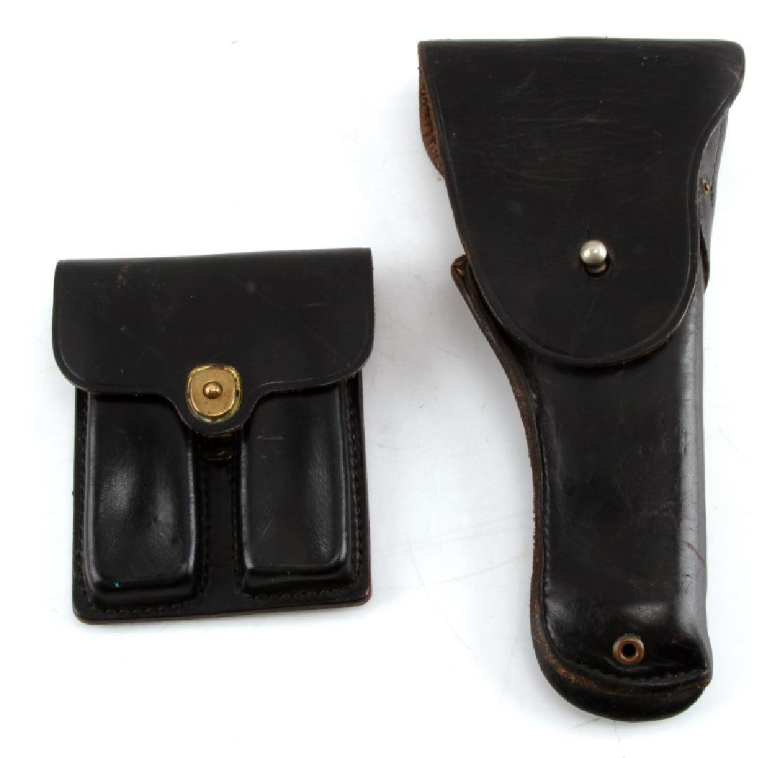 US WWII BOYT LEATHER COLT ARMY HOLSTER & MAG POUCH