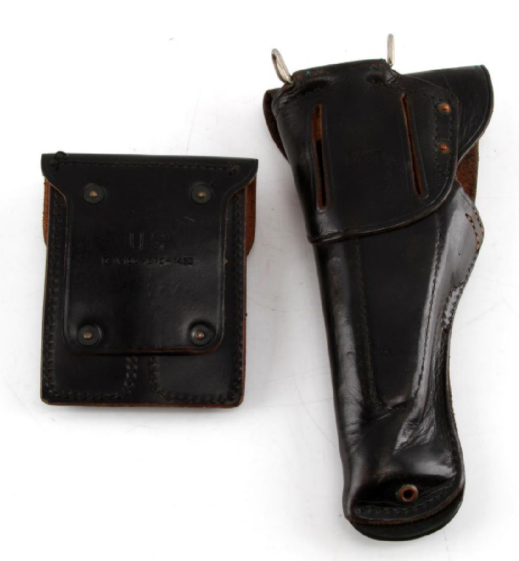 US WWII BOYT LEATHER COLT ARMY HOLSTER & MAG POUCH - 3