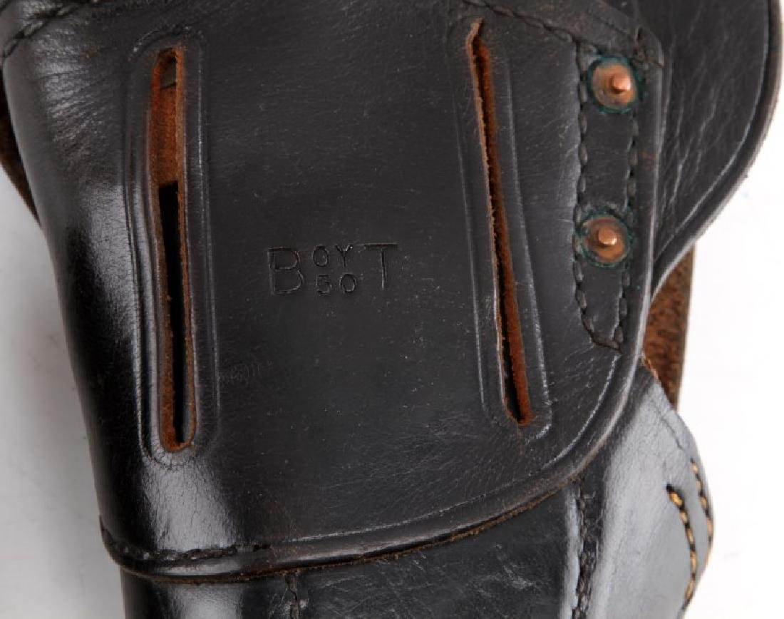 US WWII BOYT LEATHER COLT ARMY HOLSTER & MAG POUCH - 5