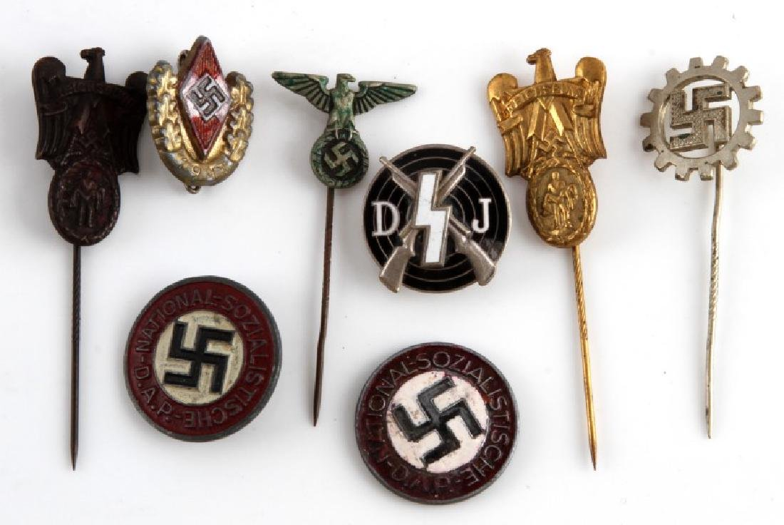 WWII GERMAN THIRD REICH STICK PIN AND BADGE LOT