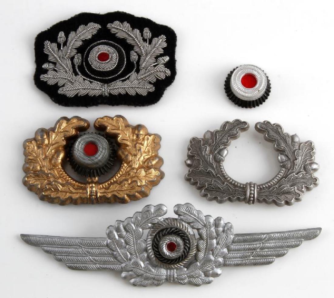 WWII GERMAN THIRD REICH VISOR CAP BADGE LOT OF 4