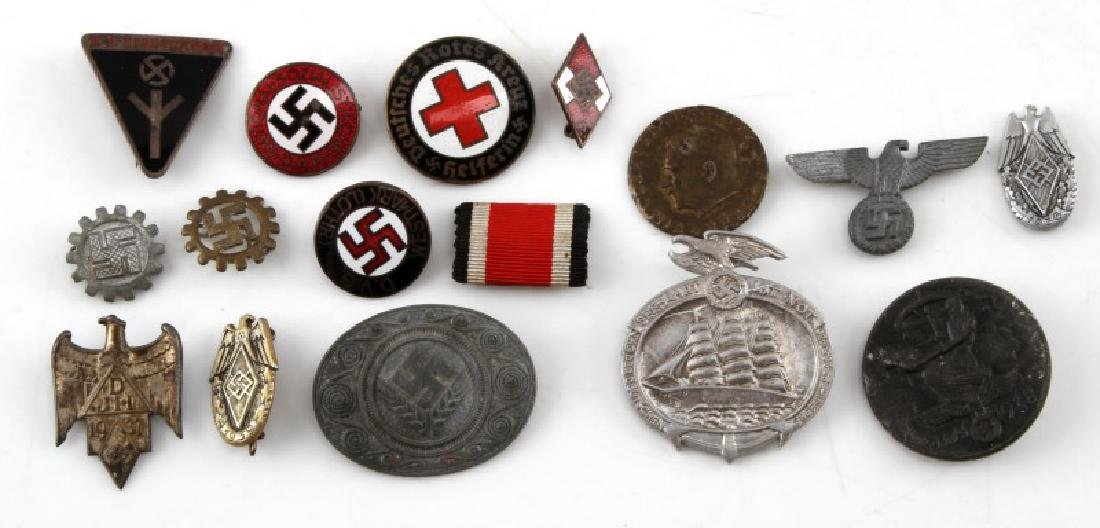 WWII GERMAN THIRD REICH NSDAP ORGANIZATION PIN LOT