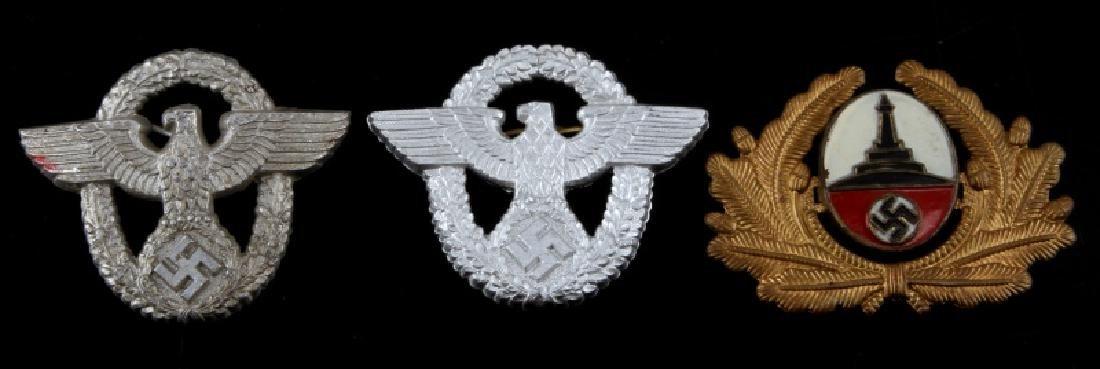WWII GERMAN THIRD REICH CAP BADGE LOT OF THREE