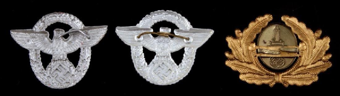 WWII GERMAN THIRD REICH CAP BADGE LOT OF THREE - 2