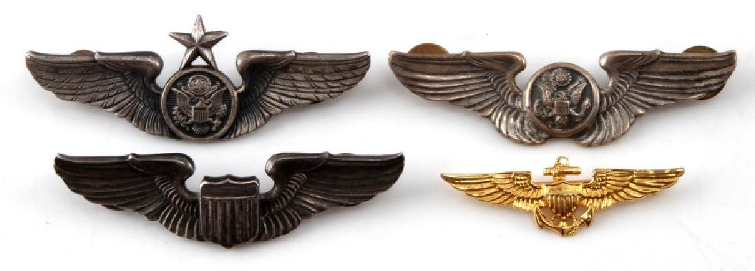 US AIR FORCE AND MARINE CORPS AVIATOR BADGE LOT
