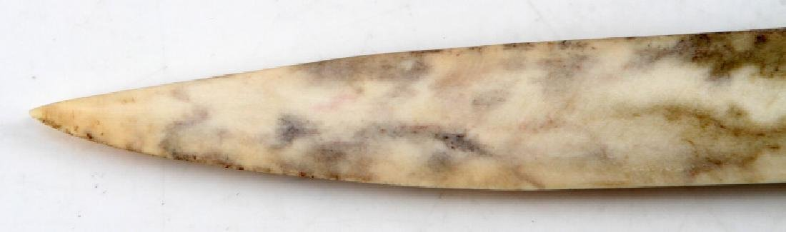 NATIVE AMERICAN CARVED POLISHED BONE KNIFE - 3