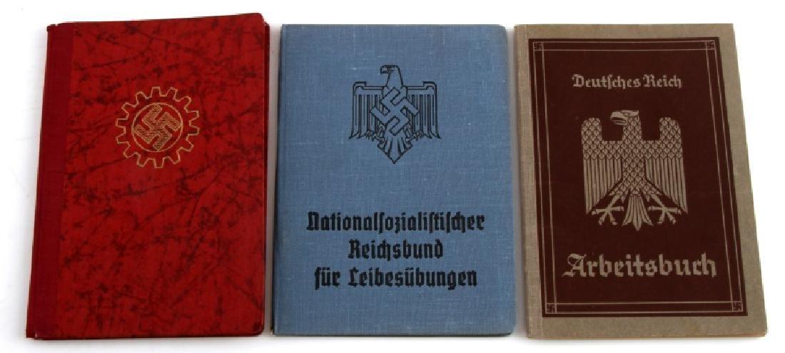 WWII GERMAN THIRD REICH LABOR DOCUMENT LOT